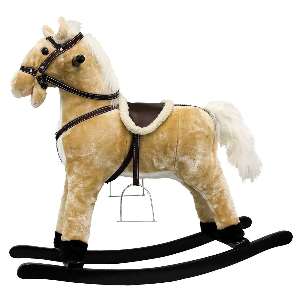 Group Sales PonyLand Toys Rocking Horse with Moving Mouth and Tail
