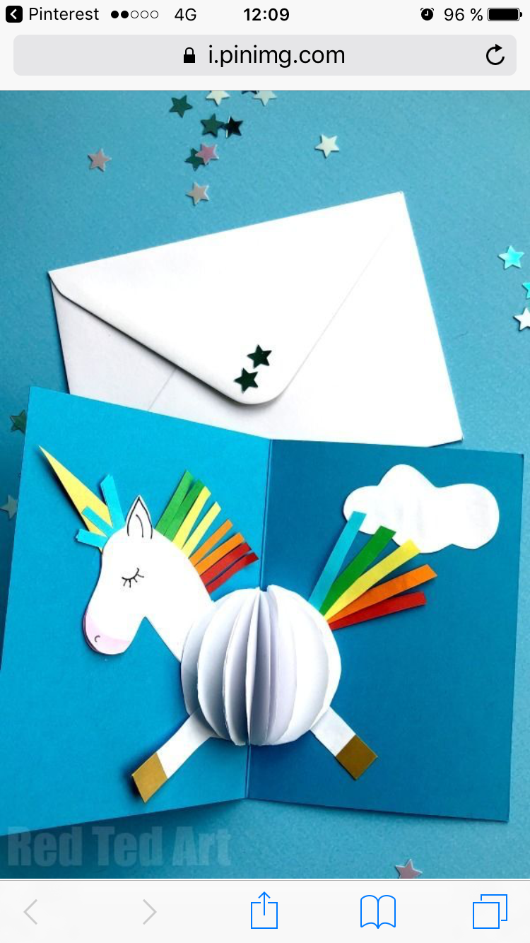 Invitation Licorne Carte D Anniversaire Bricolage Craft Faire