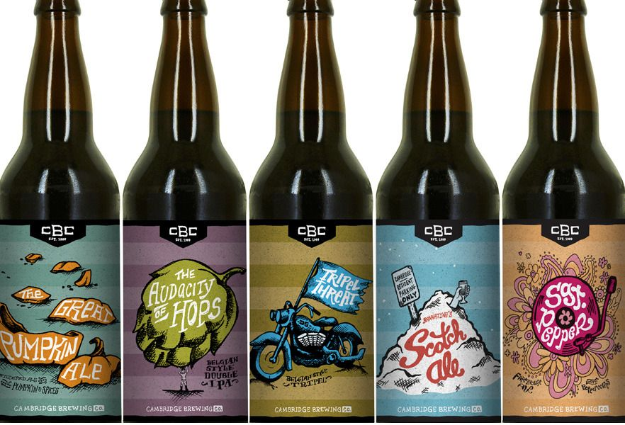 Cbc Beer Packaging Illustration And Packaging Design For A Line Of