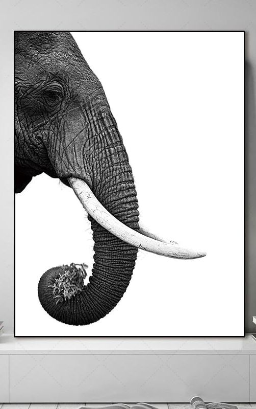 Elephant wall art, elephant wall decor, elephant canvas art, canvas wall art, elephant wall painting images