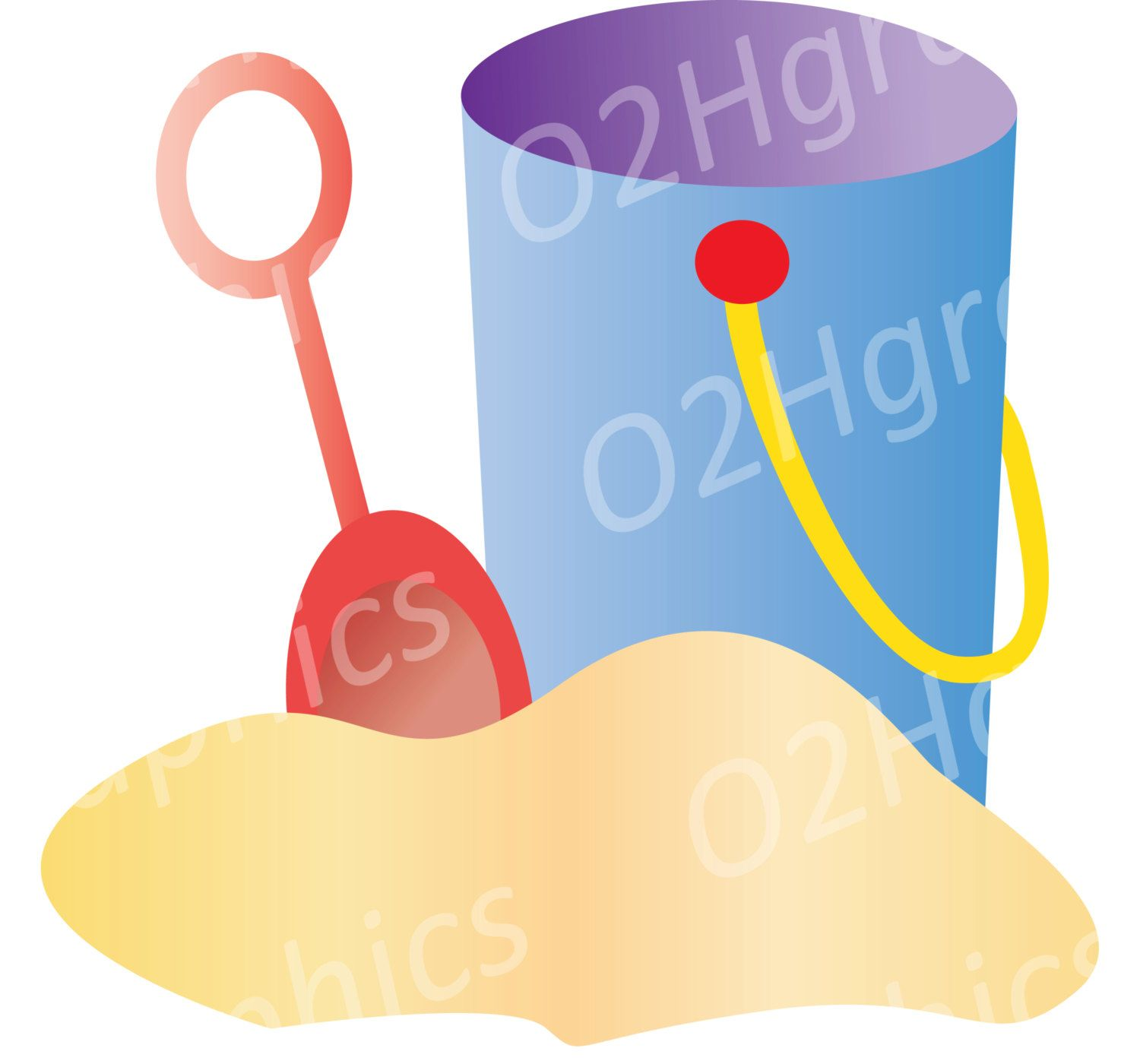 bucket clipart shovel clip art sand vector clipart digital rh pinterest com