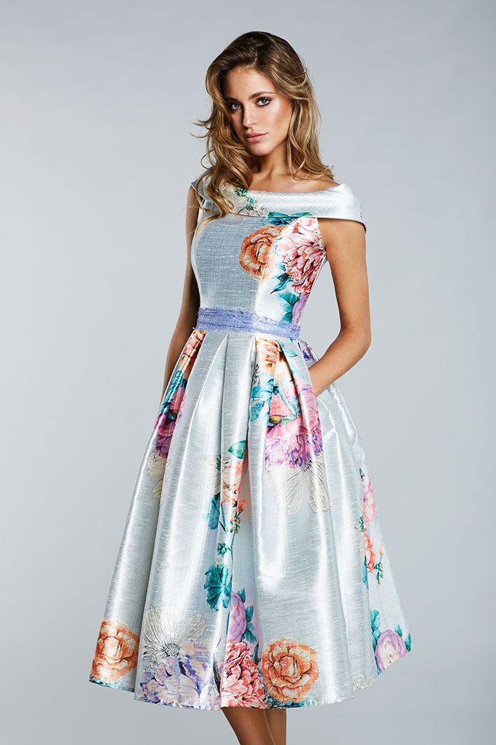 Vestidos floreados cortos de fiesta