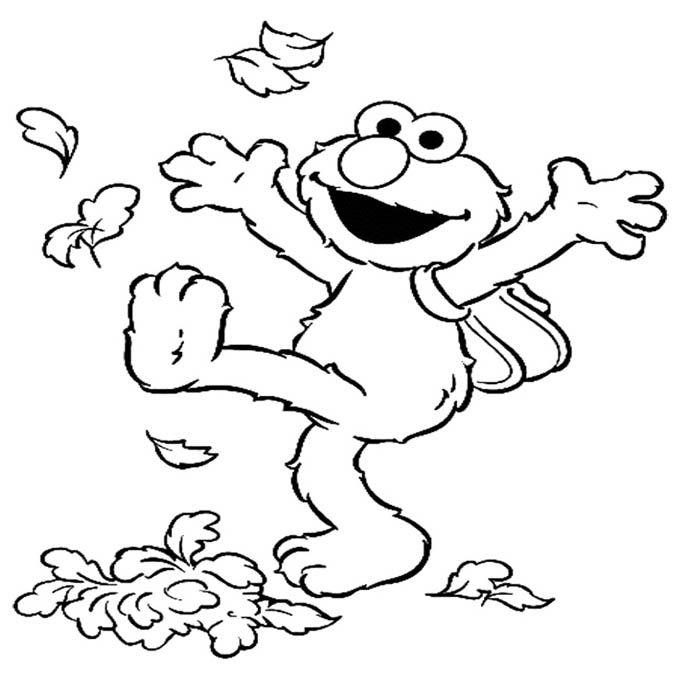 Elmo Happy Fun Coloring Page | Elmo coloring pages ...