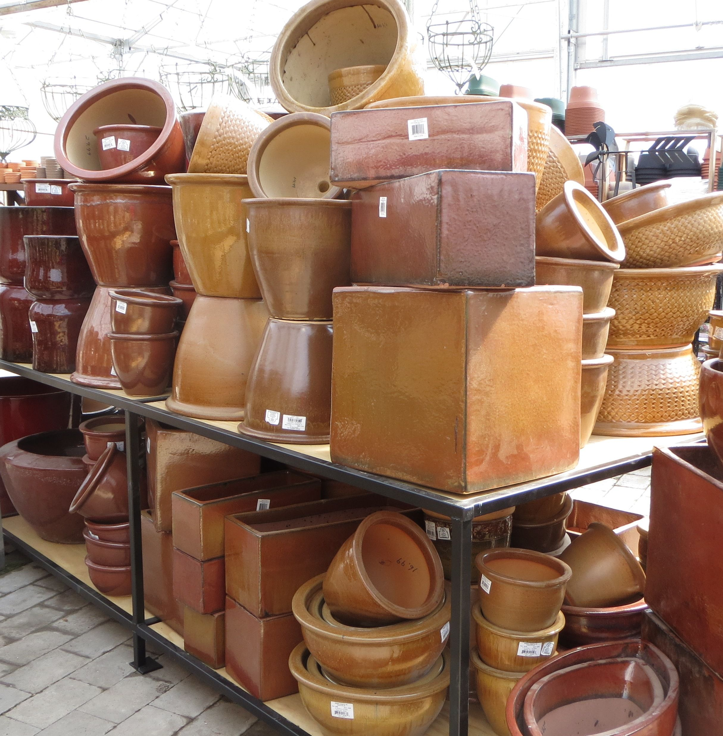 Ppttery, Pottery, And More Pottery! Bristolu0027s Garden Center (Victor, NY)
