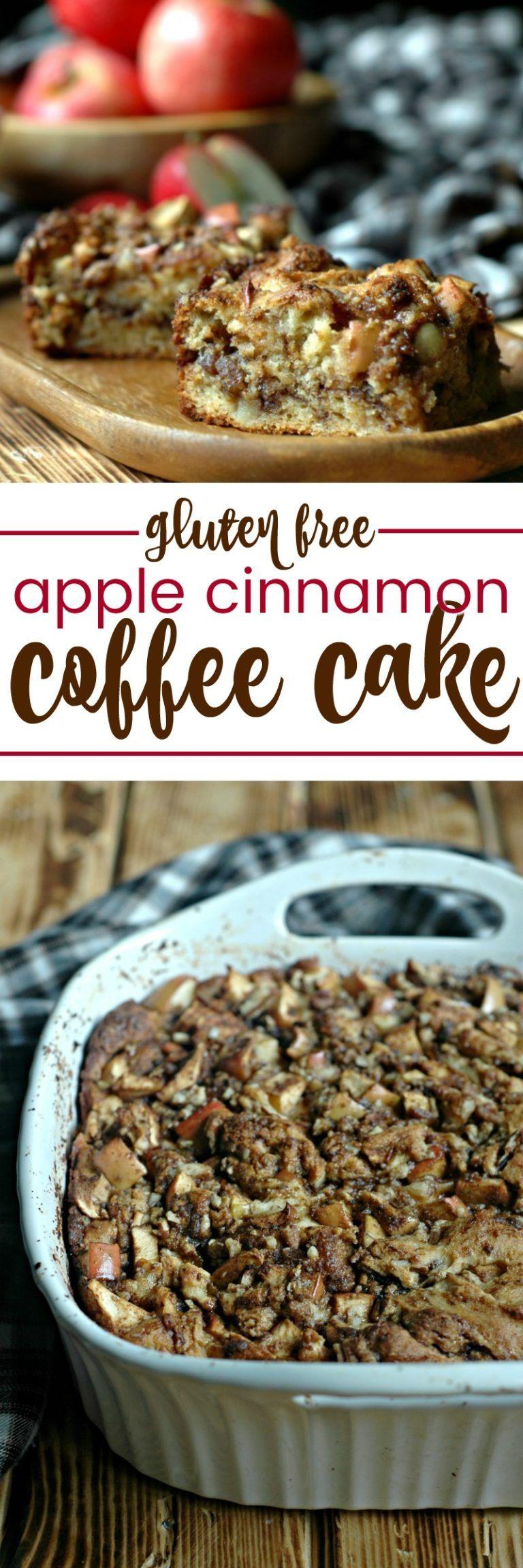 Gluten free apple cinnamon coffee cake raising