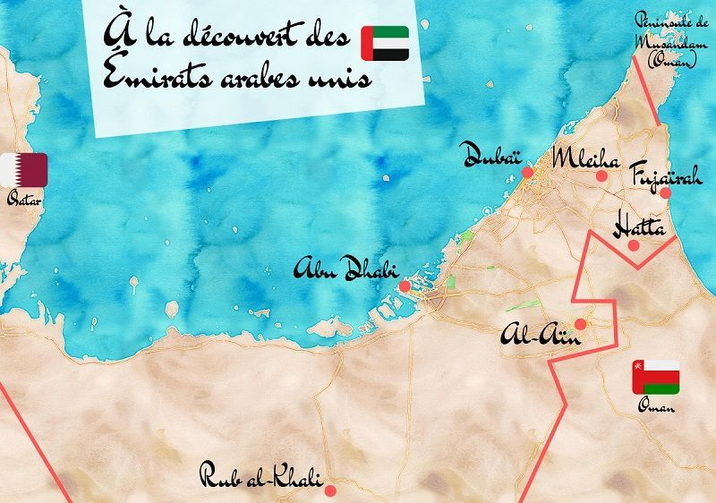 Emirats Arabes Unis Notre Itineraire De Road Trip Emirats