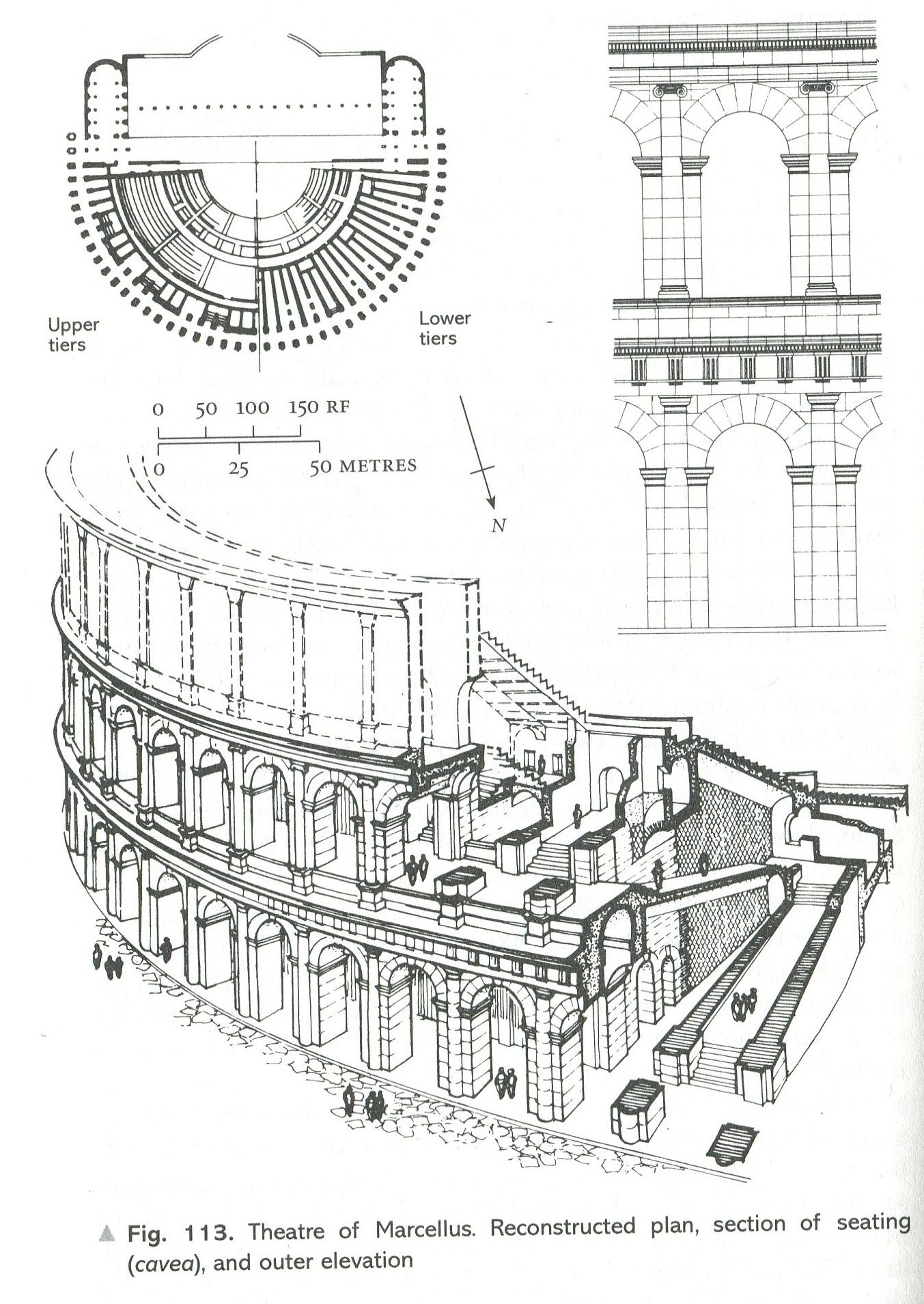 PLAN OF THEATRE OF MARCELLUS, Rome - shows how the Roman's ...