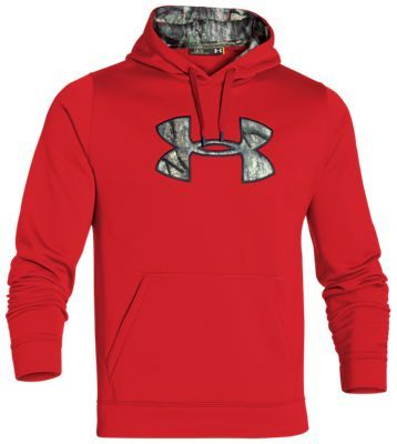 e89b57f39105 Under Armour UA Storm Caliber Hoodie for Men - Red Mossy Oak Treestand - 2XL