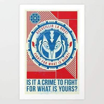 fighting owl Art Print by Kyle J Kirkup - $15.00