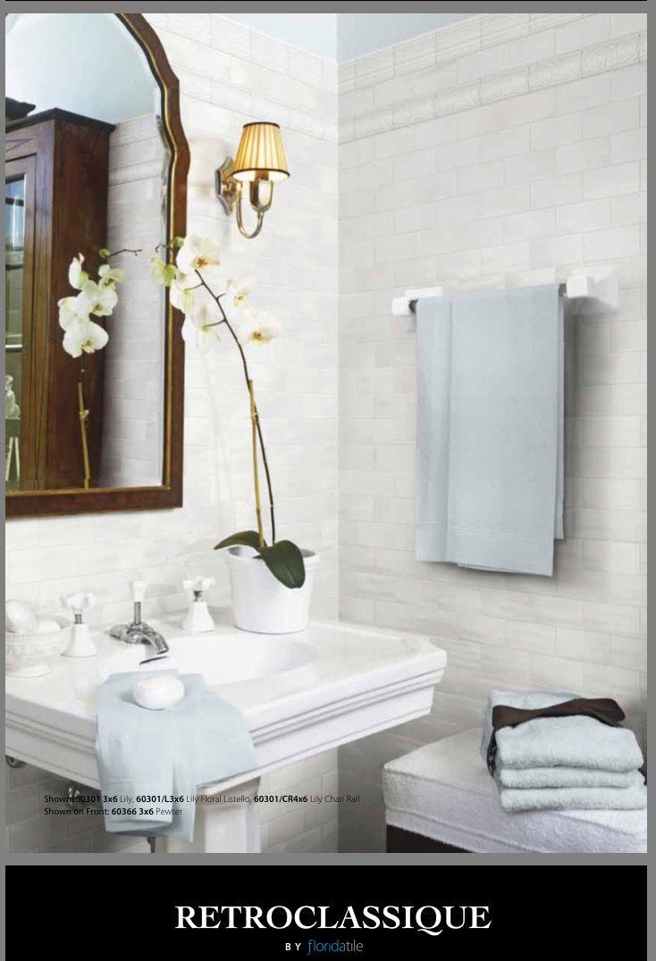 Florida Tile Retroclassique 3x6 #walltile #bathroom #floridatiles ...