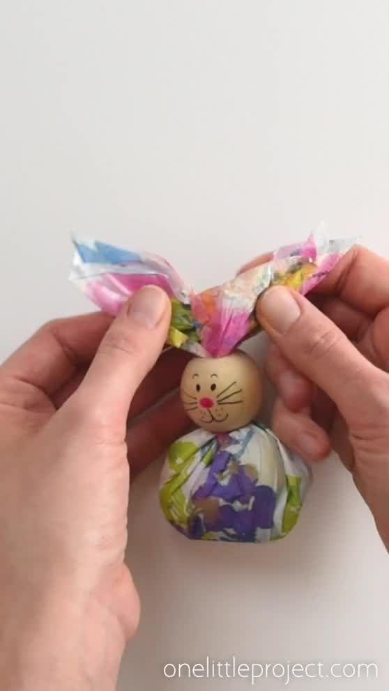 Paper napkins Bunny Favors #papernapkins