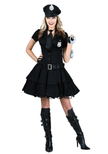 This womenu0027s playful police dress costume features a short sleeve top and full coverage skirt.  sc 1 st  Pinterest & This womenu0027s playful police dress costume features a short sleeve ...