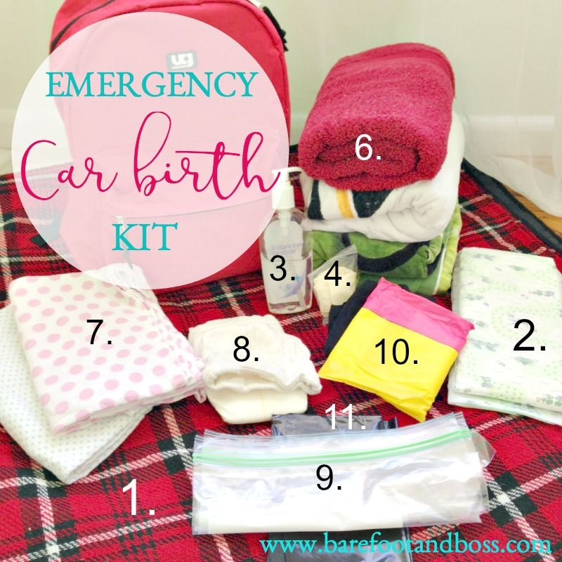 My Top 11 Essential Items for an Emergency Car Birth Kit ...