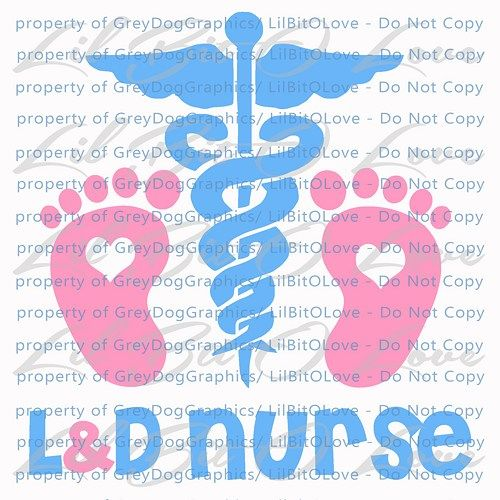 L and D Nurse Vinyl Decal Sticker Labor and Delivery Nursing Baby ...