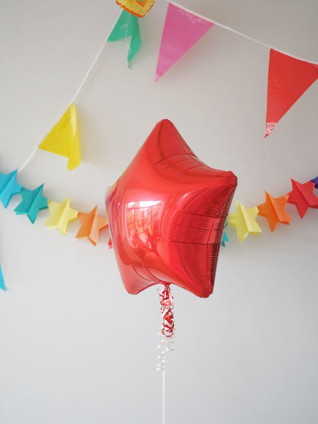Simple colourful birthday party ideas for children