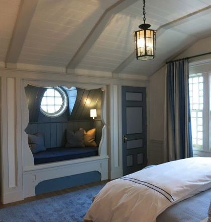 Vaulted Bedroom With Bead Boarded And Beamed Ceilings And An Awesome Cuddly Window Nook Built In To The Ea Awesome Bedrooms Guest Bedrooms Bedroom Floor Plans