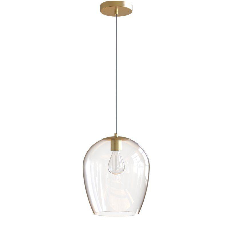 Kiro 1 Light Single Bell Pendant Glass Pendant Light Glass Light Fixture Light