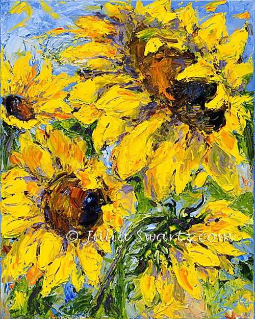 Sunflower Flower Oil Painting With Images Abstract Floral Paintings Sunflower Painting Sunflower Art