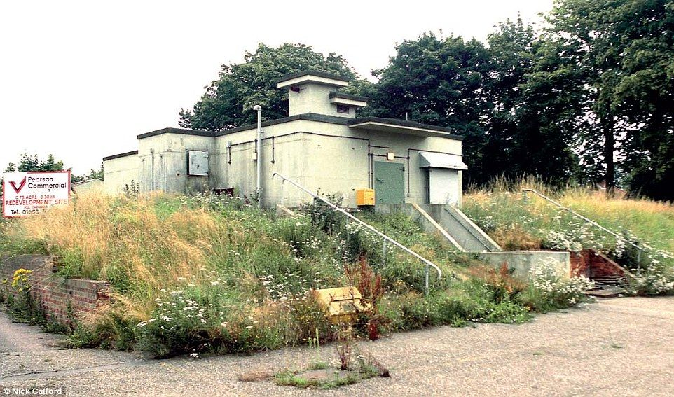 History: This bunker in Norwich, Norfolk has also been destroyed. English Heritage properties steward Ross Macleod said: 'There's been a massive revival in Cold War nostalgia. We're seeing people from schools. I think the remaining ROC headquarters should be preserved'