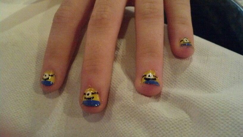 The girls are getting ready for despicable me 2!
