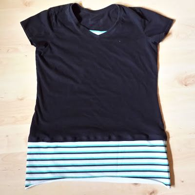 Shirtverlängerung / How to make a longer shirt / Upcycling
