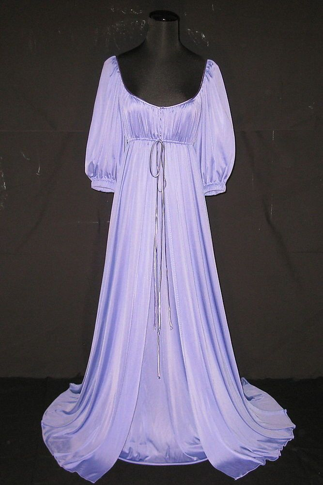 Lucie ann lavender long elegant nightgown   robe peignoir set - sexy and  chic 20afd14d2