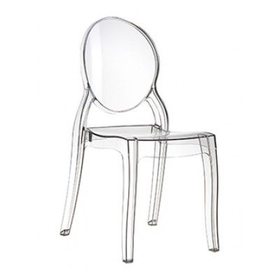 Elizabeth Side Chair By Eclipse Clear Transparent Bistro Chairs Outdoor Bistro Chairs Patio Dining Chairs