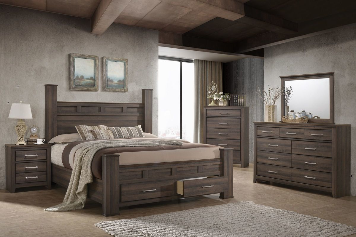 Danville 5 Piece King Bedroom Set Bedroom Furniture Sets Large