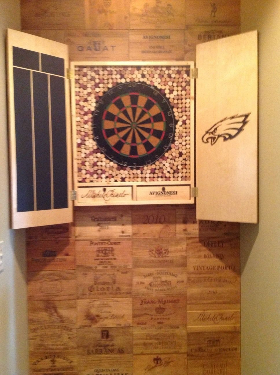 Dart Board Cabinet | John Can Make It | mine | Pinterest