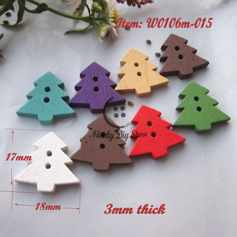 Christmas deer Wooden Buttons Snowflakes pattern sewing scrapbooking crafts 25mm