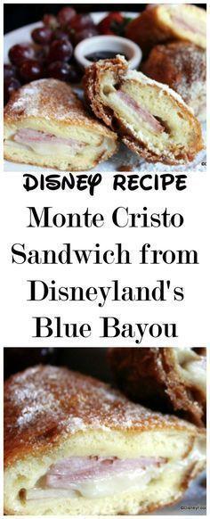 Disney Recipe: Monte Cristo Sandwich from Disneyland #montecristosandwich