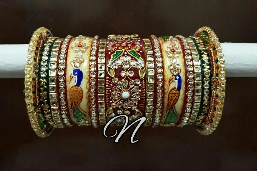 2.4 S Bollywood Bangles Bracelet Indian Punjabi Bridal Jewellery Chura Red D8 Year-End Bargain Sale Engagement & Wedding Bridal & Wedding Party Jewelry