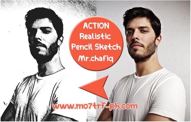 أكشن تحويل الصورة الى رسمة قلم الرصاص Pencil Sketch Pencil Sketch Fictional Characters Realistic