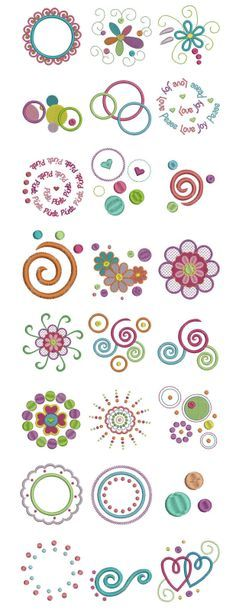 Embroidery   Free machine embroidery designs   Dots and Doodles