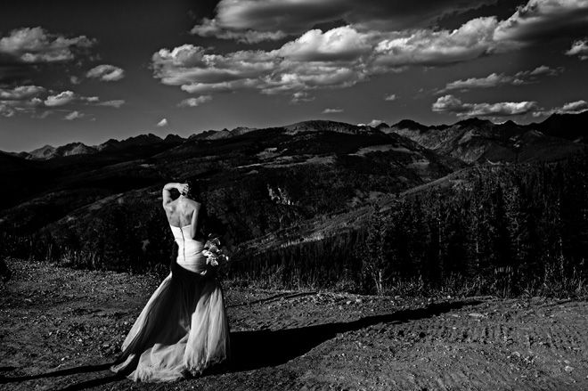 Artistic wedding photojournalism. Black and white wedding photography. Documentary wedding photography. Storytelling wedding photographs in the mountains at a Vail, Colorado. Wedding held at the 10th, Vail.