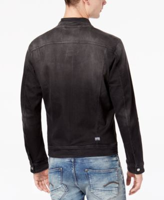 e5b4b14699c66 G-Star Raw Men s Arc Dc 3D Slim-Fit Stretch Full-Zip Denim Jacket - Black  XXL