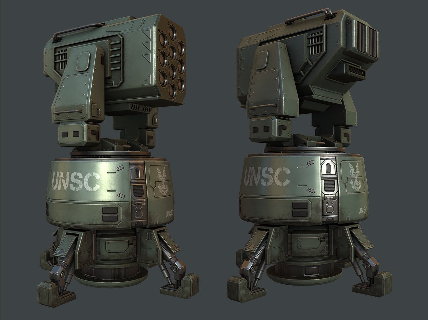 Halo Missile Turret (WIP) - Polycount Forum