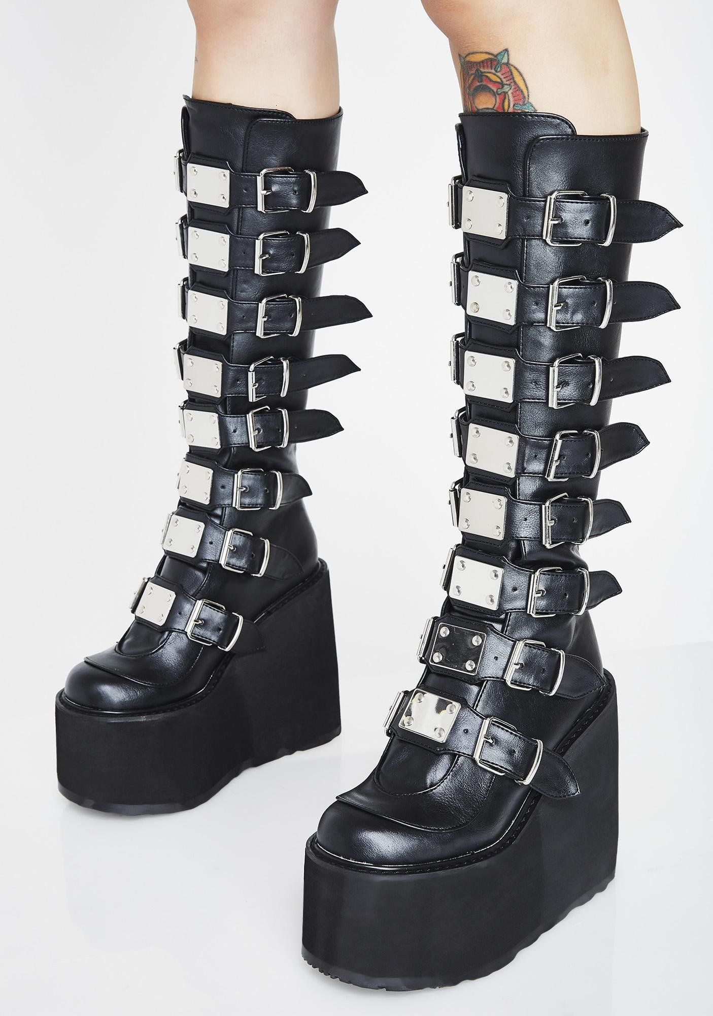 Trinity Boots | Goth boots, Goth shoes
