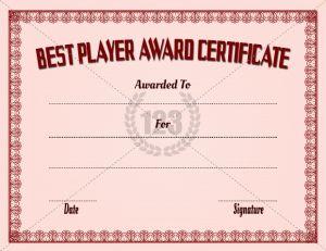 award certificate font