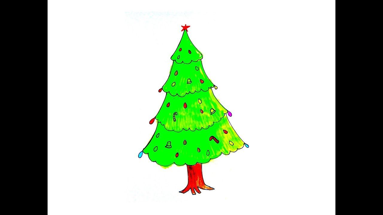 How To Draw The Christmas Tree Easy Simple Christmas Tree Christmas Ornaments Christmas Tree