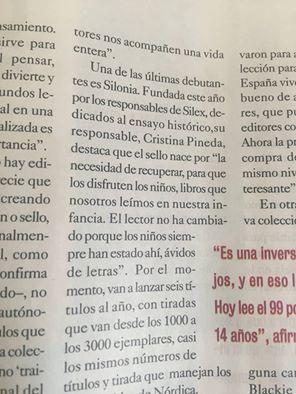 Silonia en El Cultural 27/05/16