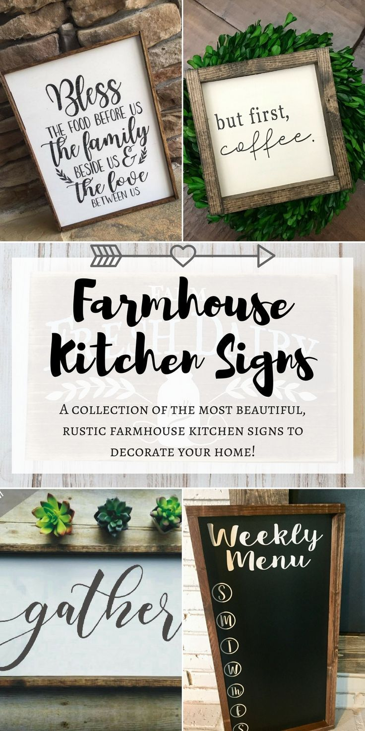 Gosh Y All I Have Found The Prettiest Farmhouse Kitchen Signs To Decorate My Home Farmhouse Decor Farmhouse Kitchen Signs Kitchen Signs Custom Wooden Signs