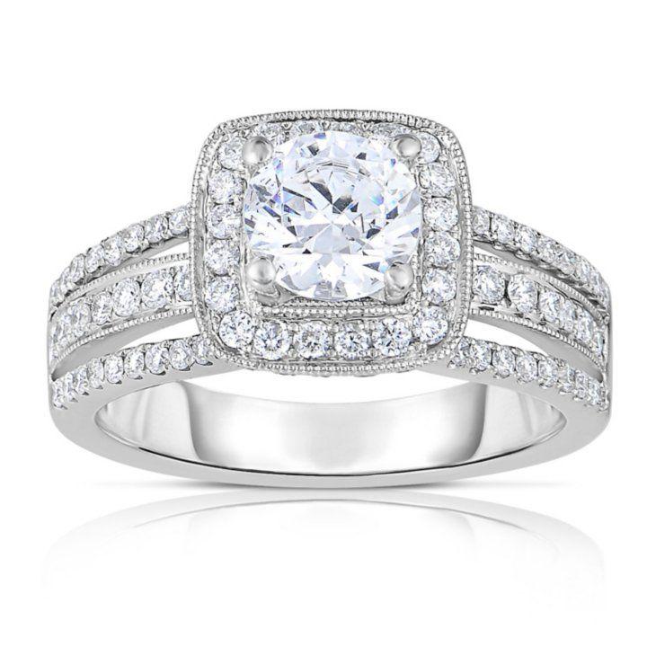 2 CT. T.W. Diamond Enagaement Ring in 14K White Gold (HI ...