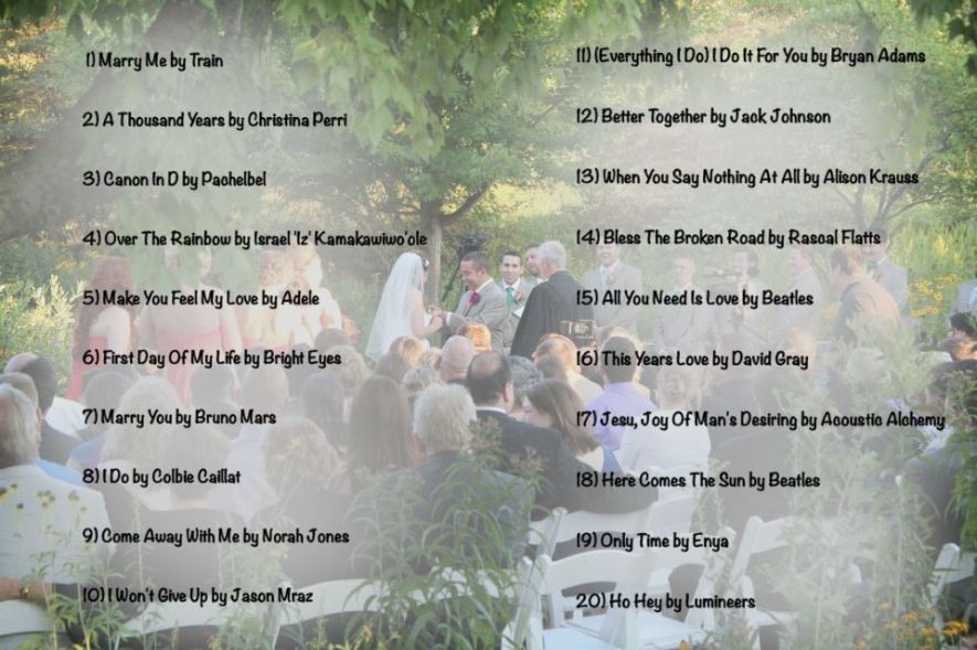 Processional Songs For Wedding Party: Top 20 Wedding Processional Songs Of