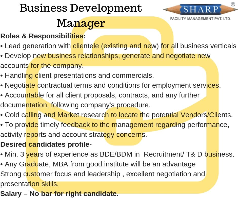 Send Me Resume Now!! Opening For Business Development