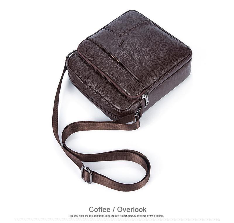 Leather Crossbody Commuter Laptop Tablet Messenger Bag