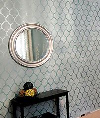 Thinking of stenciling wall behind bed