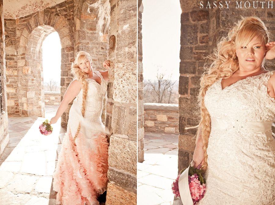 Plus Size Bride Curvy Beauty Blonde Bombshell Kat Roll Fai