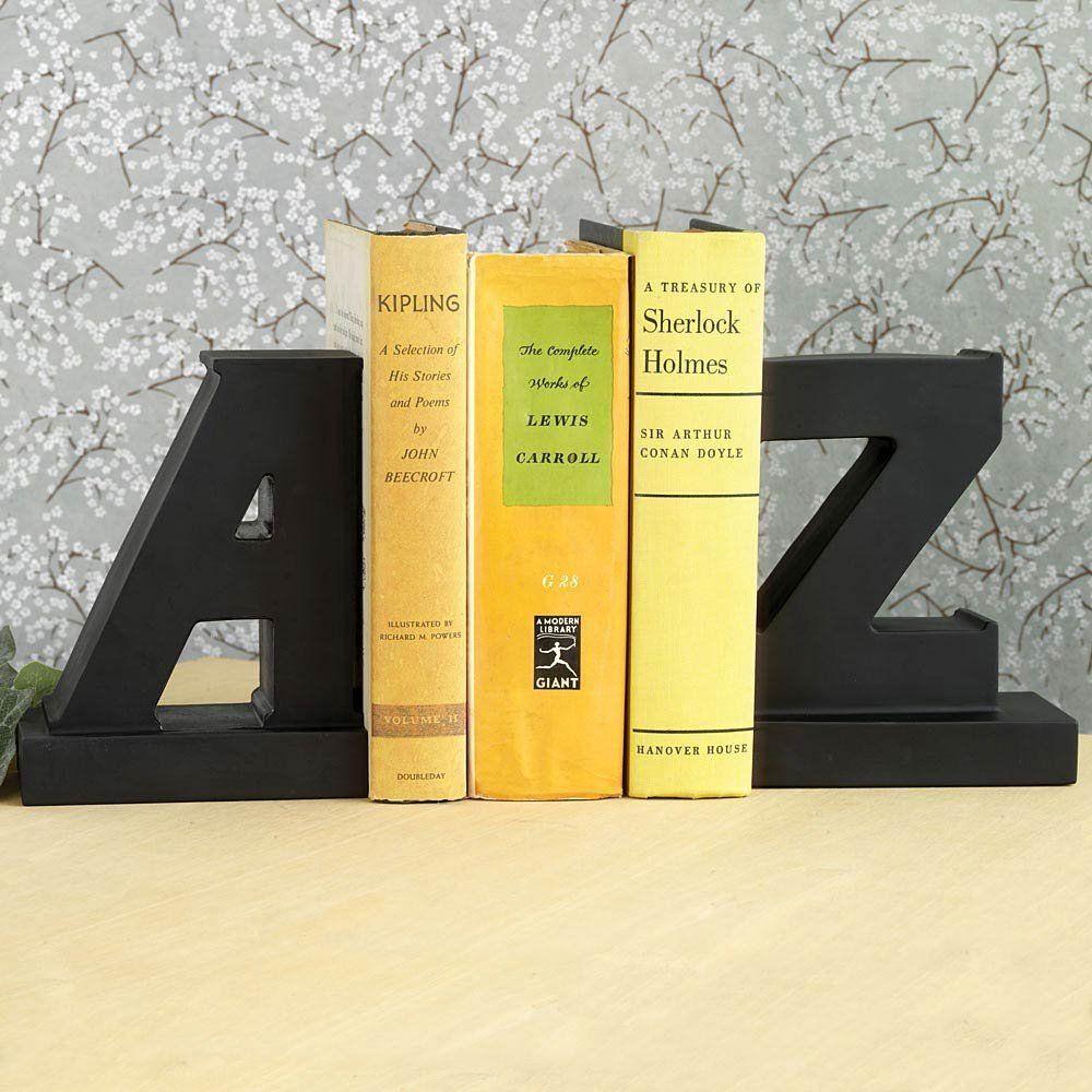 Amazon.com: Bits And Pieces   Decorative AZ Bookends   Organize Books,  Movies