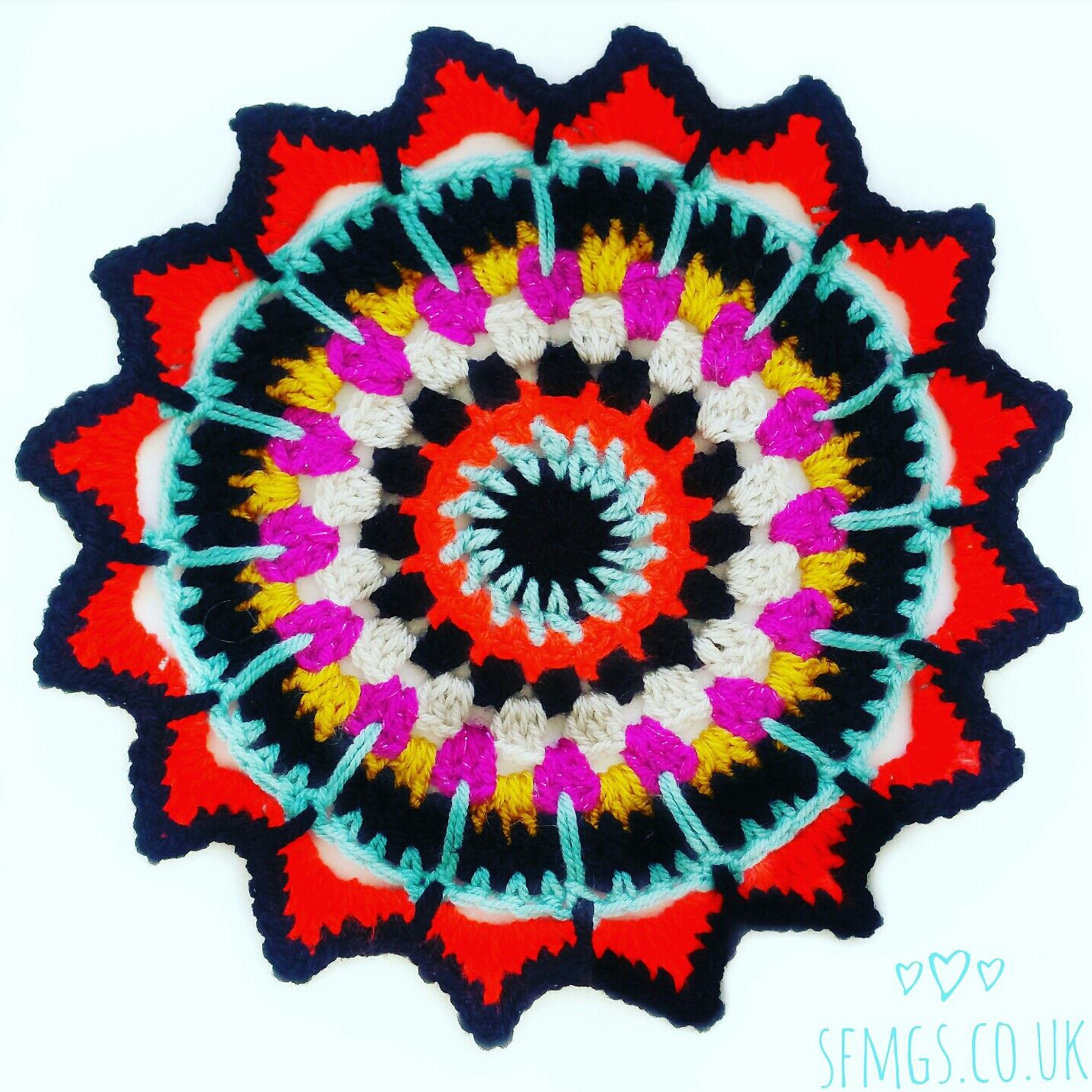 Sultan Sunburst Crochet Mandala | Free Crochet Pattern - Make this ...